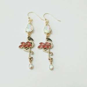 Handmade Flamingos Earrings
